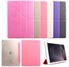 For iPad case, for iPad mini multi-folding stand leather case, for iPad PU case