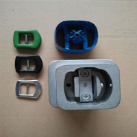 cloth covered belt buckle cover mould