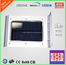 Outdoor Stainless Steel Led Emergency Solar Lamp Shade Light with motion sensor led wall lamp