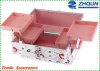 Most popular custom logo lips aluminum cosmetic case and box,make up case