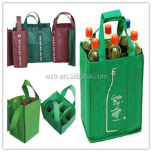 2015 popular bulk pack promotional recycle new style pp non woven wine bags