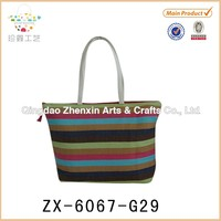Promotion cheap stripe paper straw bag for hot summer