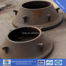 Spring Cone /Jaw Crusher/Impact Crusher Spare Parts Crusher Bowl Liner