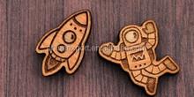 Cute Cartoon Wood Stud Earrings