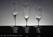 New pattern Champagne etched glass