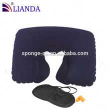 hot inflatable travel neck pillow, hotel inflatable neck pillow, inflatable air bed pillow