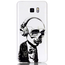 Glossy Skull Style Case for Samsung Galaxy Note 5,Soft TPU Case