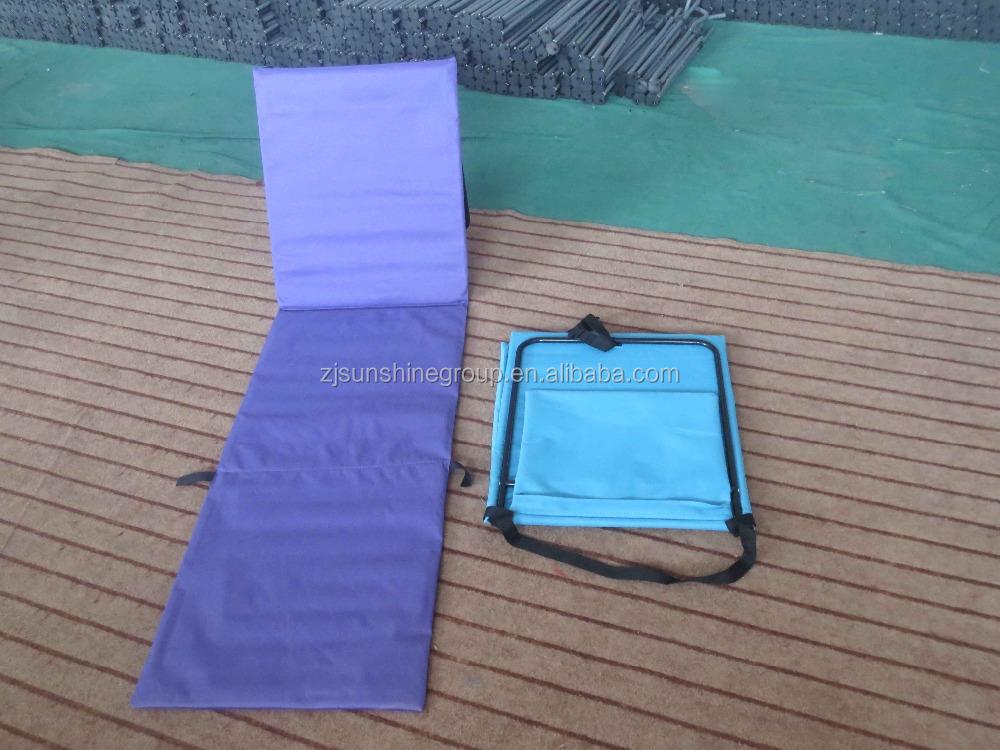 Padded Folding Beach Mat With Backrest Folding Flooring