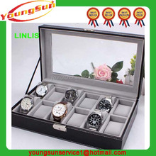 12 Watch Case Display Storage Box With Glass Viewing Top