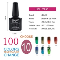 Elite99 10ml Nail UV Gel Polish Best on Ali Top and Base Coat Needed High Quality Temperature Color Change Polishes Gel Lacquer