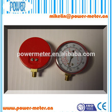 High Quality freon refrigeration pressure gauge red iron case with CE certificate