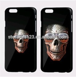 3D skull printed mobile phone cases