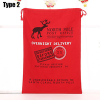 Wholesale Online With 100 pcs Free Shipping 2015 New Design Christmas Santa Claus Gift Cotton Canvas Drawstring Gift Bag