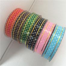 Metallic Edge Dots Printed Ribbon