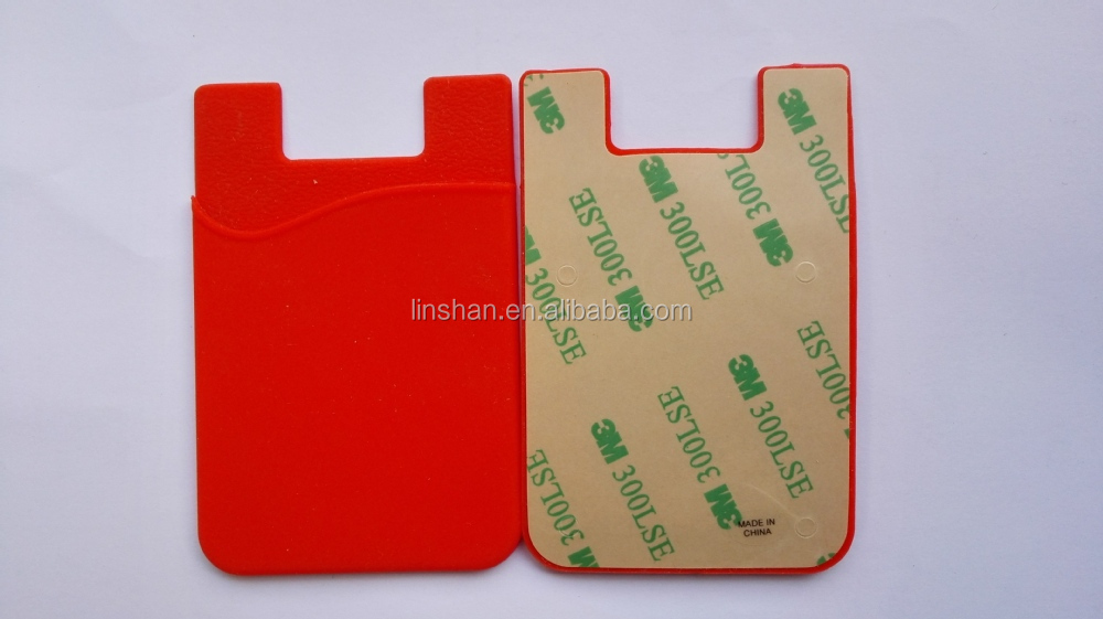 Silicone 3m business card holdersticky pouch card money holder for the wallet features colourmoves