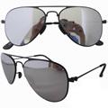 s12004 marco de acero inoxidable ligero de aviador gafas de sol