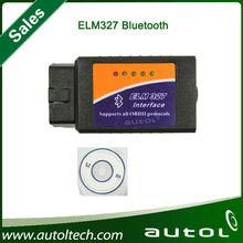 2014 Factory price wholesale elm327 bluetooth ELM 327 Interface OBD2 / OBD II Auto Car Diagnostic Scanner OBDII