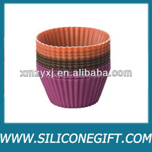 Silicone Cup Cake/ Muffin Baking Tray/Mold,12 pcs Soft SilCake Muffin Chocolate Cupcake Liner Baking Cup Moldnicone Roud