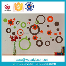 green chalkboard wall decal circles dots and flowers wall decal