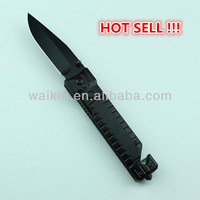 "4.72"" Closed Belt Clip Aluminum Handle 3CR13 Stainless Steel Police Best Folding Tactical Knife With Liner Lock"
