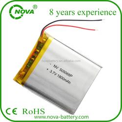 nova 3.7v li-polymer 505068 1800mah battery
