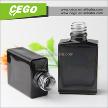 printed glass e-juice bottle with chidproof cap, glass dropper bottle with color tip and sharp tube