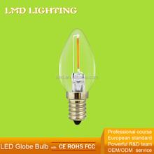 Christmas Holiday Decoration 120V Clear Glass Filament LED 0.5W C7 Bulb