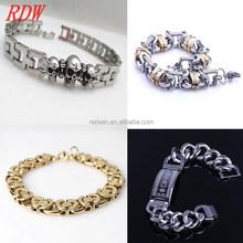 fashion bracelets custom 316L stainless steel gold bracelet jewelry 2015 cheap wholesale men gold bracelet jewelry