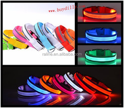 New LED flash light emitting Pet dogs and cats reflective dog collar luminous collar neckband sizes TB023