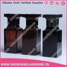 50ml gray and black perfume glass bottles for men