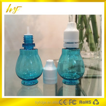 2015 newest product bottle gourd PET plastic e liquid bottle with tamper evident cap and long dropper