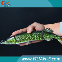 2015 Multi Jointed Fishing Lure Bait lifelike quality pike fishing lures baby pike swimbait