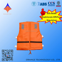 Hot Sale Orange Color Polyester Oxford SOLAS Approved Life Jacket