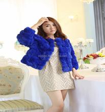 2015 Wholesale Genuine Beautiful Soft Rabbit Fur Coats Women