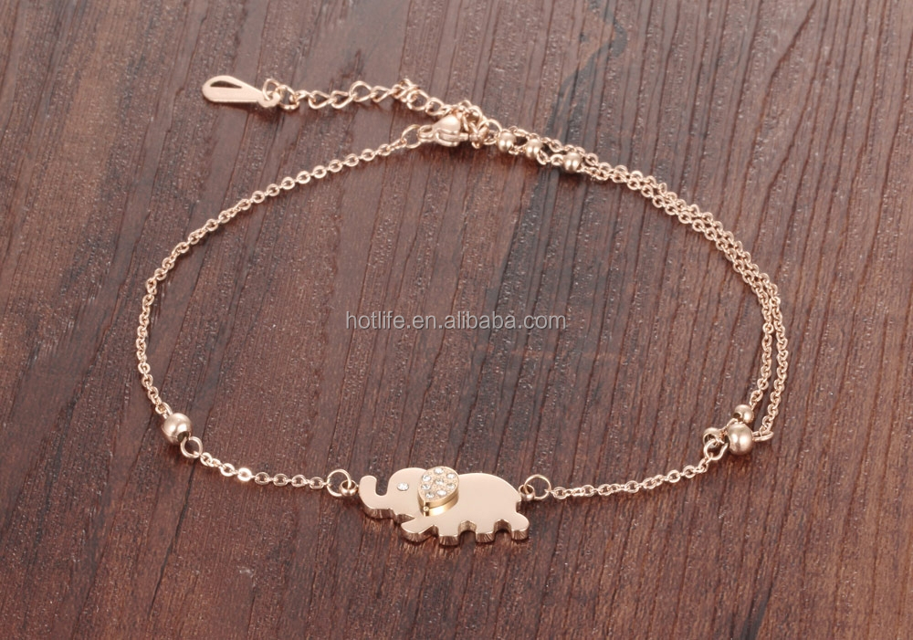 elephant fashion jewelry pendant hotwife anklet with