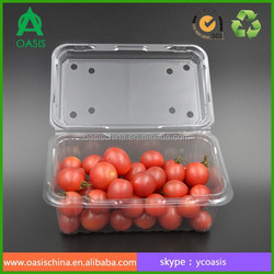 Plastic Dispoable Food Blister Packaging Container For Tomato/Strawberry/Cherry/ Fruit