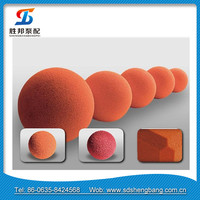 construction machinery parts / dn50 dn100 dn125 dn150 concrete pump pipe sponge rubber clenaing ball