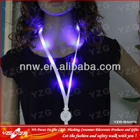 Promotional nylon neck LED straps