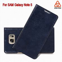 BX Phone case for samsung galaxy note 5 sewing leather case ,oil edge +sewing leather case for samsung galaxy note 5 leather cae