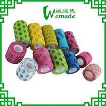 2.5cm/5cm/7.5cm/10cm/15cm Natural Rubber Human/ Animal/ Pet/ Vet/ Horse Elastic Bandage Printed!!!