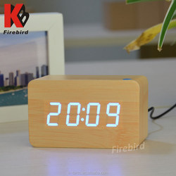 Wholesale top selling led display clock wooden gift items