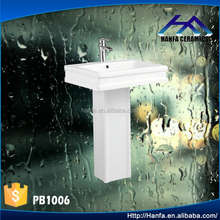 ceramic bathroom design toilet basin pedestal sink