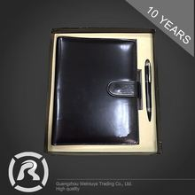 New Coming Specialized Produce PU Hardcover Notebook And Pen With Logo