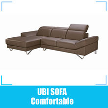 Leather sofa corner /modern italian furniture loung suite in shanghai