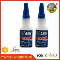 Guo-elephant 496 quality Cyanoacrylate Adhesive Instant Glue for Metal,stone,velcro bonder