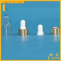 High Quality Wholesale Essential Oil/LIquid Bottle Dropper With Rubber Stopper Caps
