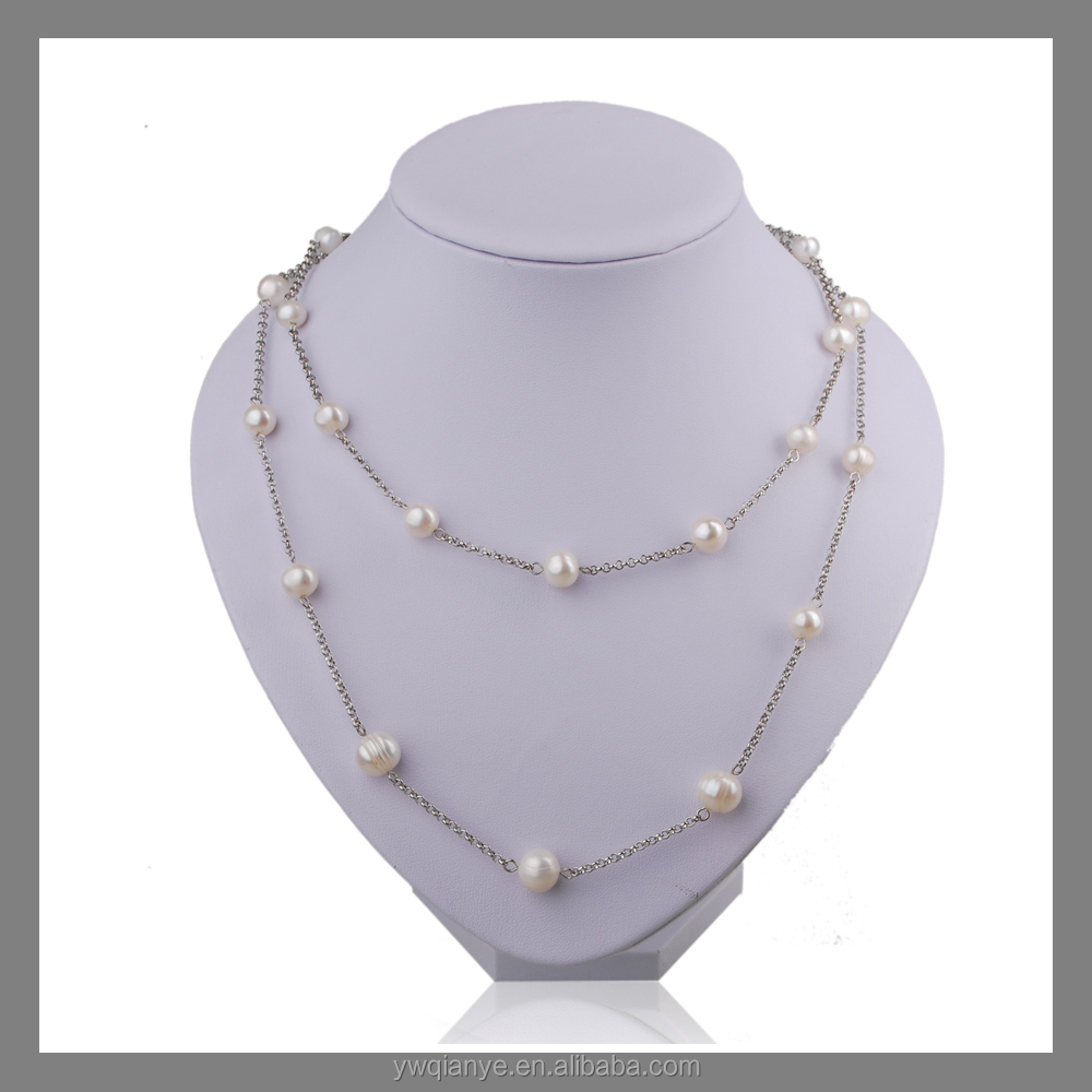 fashion pearl bead silver necklace wholesale buy beaded