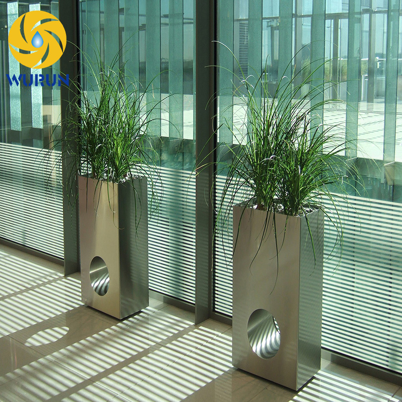 source large tall stainless steel decorative planters outdoo