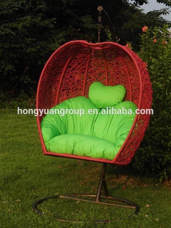 Mimbre al aire libre sillas de huevo muebles de jard n for Silla huevo colgante
