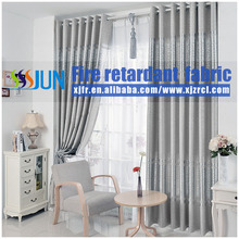 Luxury Europe Style 100% Polyester Drapery&Curtain With Permanent Flame Retardant Performance